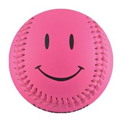Hot Pink Smiley Face T-Ball