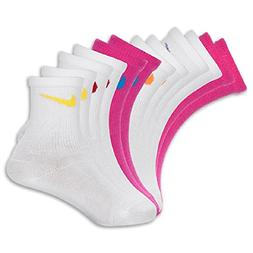 Nike PINK WHITE Color Toddler Girls Socks Size 6-7 US Shoe S