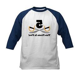 CafePress - Pirate 5th Birthday Gift Kids Baseball Jersey -