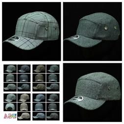 Plain Baseball Cap 5 Panel Casual Caps Fashion Hat Plaid Pre