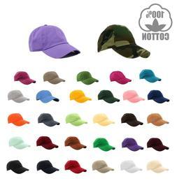 Gelante Plain Baseball Cap Polo style Washed Adjustable 100%