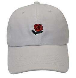VLUNT Plain Baseball Cap Unisex Rose Caps Adjustable Solid C