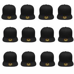 Plain Blank Flat Brim Adjustable Snapback Baseball Caps WHOL