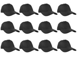 Plain Blank Solid Adjustable Baseball Cap Hats wholesale lot