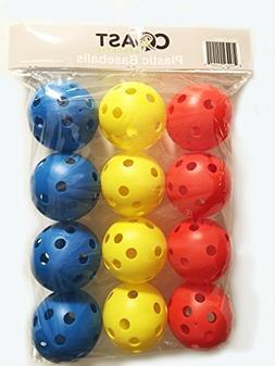 Coast Athletic Plastic Baseballs - 12 PACK