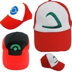 Pokemon Ash Ketchum Hat Cap Baseball Adult Cosplay One Size