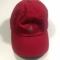 Polo Ralph Lauren Baseball Cap Hat Red Adjustable OS Logo Po