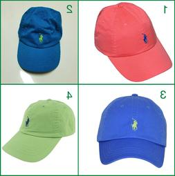 POLO RALPH LAUREN BASEBALL CAP HATS PONY LOGO ONE SIZE ADJUS