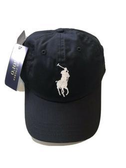 Ralph Lauren Polo Big Pony Baseball Hat Cap Men One Size Lea