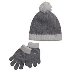 Nike Pom Pom Knit Ski beanie Cap Hat With Gloves set