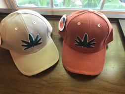 Pot Leaf Marijuana City Hunter Mens Baseball Cap Denim NOS T