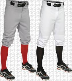 Easton Pro + Adult Men's Knicker Baseball Softball Pants Whi