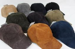 real lambskin suede leather baseball cap hat