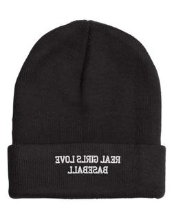 real love baseball embroidered beanie