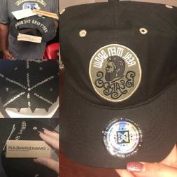 Makerwear Real Men Wear Beards Baseball Cap,Black 100% Cotto