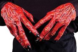 Red Devil Demon Gloves Monster Horror Hands  by Struts Fancy