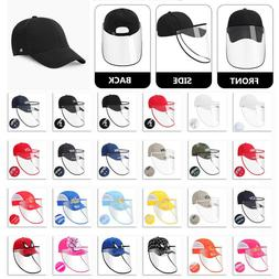 Removable Full Face Safety Shield Anti-Spitting Hat Baseball