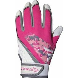 Easton Rival Fastpitch Batting Gloves Pair Youth Grey/Pink/W