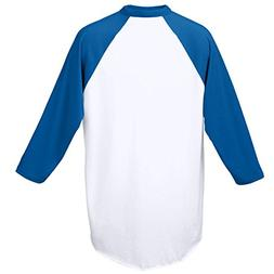 Augusta Royal Youth Medium 3/4 Raglan Sleeves