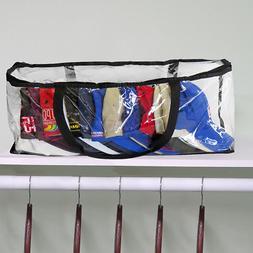 RPC103 Evelots Baseball Cap Storage Bag Zipper Organizer