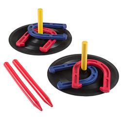 Rubber Horseshoes Game Set for Outdoor and Indoor Games - Pe