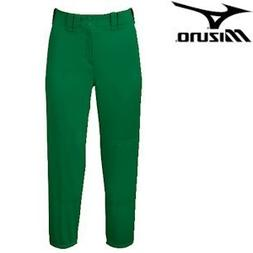 Mizuno Select Belted Low Rise Fastpitch Pant - Forest Green