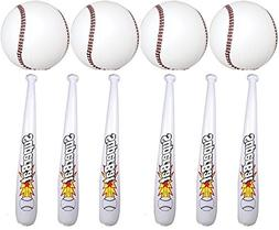 24 Pc Set of Inflatable Baseball Bats and Baseballs