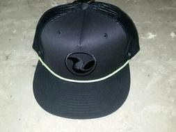 DVS Shoes Baseball Cap Hat Black Green NOSWT OSFA Mesh Back