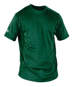 Rawlings Boy's Short Sleeve Baselayer Shirt, Dark Green, Med