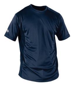 Rawlings Men's Short Sleeve Baselayer Shirt, Navy, X-Large