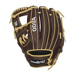 Wilson Showtime Pedroia Fit Baseball Gloves, Brown/Blonde, 1