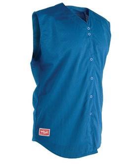 Rawlings Youth Sleeveless Full Button YSJ167 Jersey, Royal,
