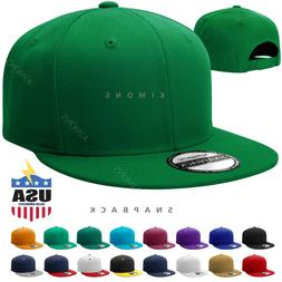 Snapback Hat Flat Baseball Cap Trucker Solid Plain Blank Men