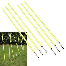 "BlueDot Trading Soccer Agility Training Poles , 5' 8-1/4"""