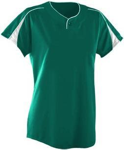 Softball Girls/Ladies Diamond Two-Color Raglan/One Button Pl