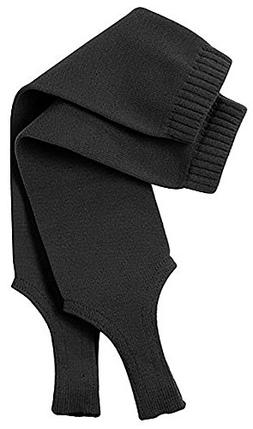 "TCK Sports Solid Color 7"" Baseball Stirrup Socks, Black, Med"