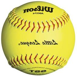 """12"""" SST Yellow Leather Little League Play Softballs from Wil"""