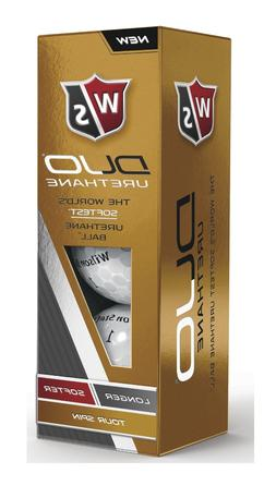 WIlson Staff Duo Urethane Golf Balls One-Dozen White