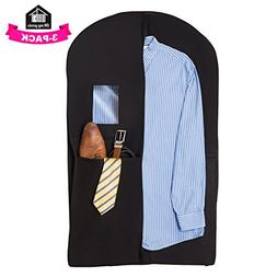 Suit Carrier Garment Travel Bag – Set of 3 Hanging Clothes