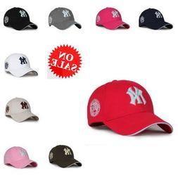 Summer Hats For Kids Adjustable NY Letter York Snapback Base