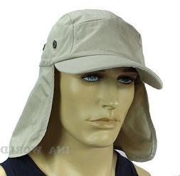 Sun Cap hat Ear Flap Neck Cover Sun Protection Baseball cap