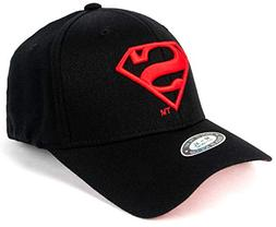 POPKORS Superman Shield Embroidery Flex-fit Strech Fit Fitte