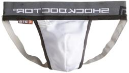 Shock Doctor Men's Supporter with Cup Pocket, Medium, White