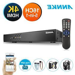 ANNKE 16 Channel Surveillance DVR 3MP/1080P Security Digital