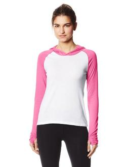 Soffe Juniors No Sweat Colorback Hood, White/Neon Pink, Smal
