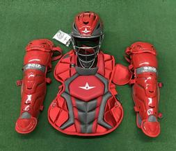 All Star System 7 Axis Youth 10-12 Catchers Gear Set - Red