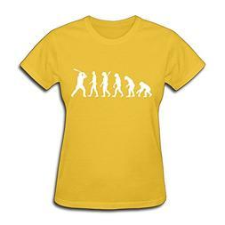 WSB Women's T-shirts Baseball Evolution Yellow S