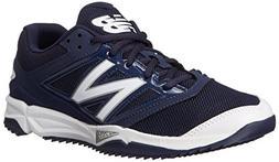 New Balance Men's T4040V3 Turf Baseball Shoe, Navy/White, 13