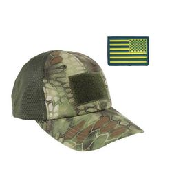 Tactical Baseball Cap with American Flag Patch Trucker Army