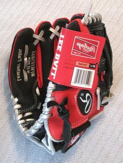 "Rawlings Tee Ball Baseball Glove 10-1/2"" Leather Right Throw"